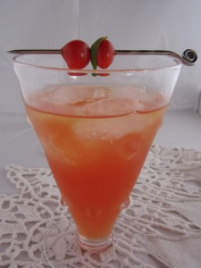 Basil, Tomato and Vodka Cocktail