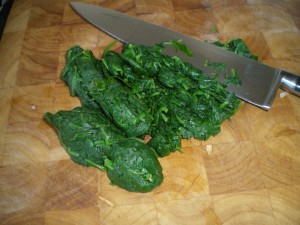 Creamed Spinach, cauliflower puree 020