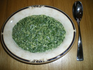 Creamed Spinach, cauliflower puree 035