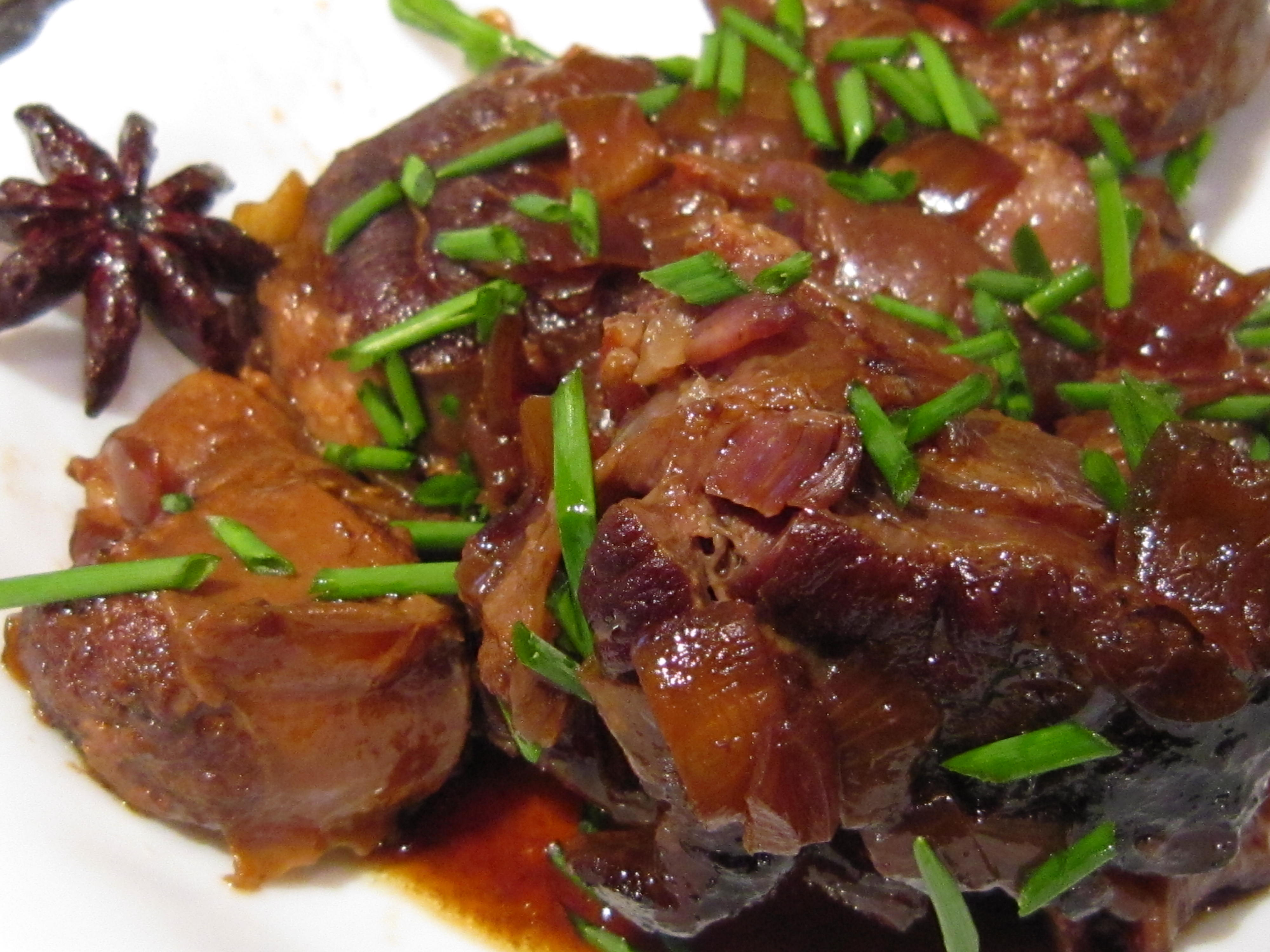 Pictures Of Cooked Meat Red cooked shin of bee...